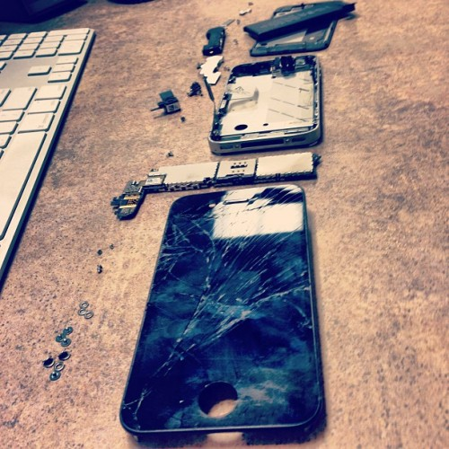 Fixing stuff #apple #iphone #broken #glass #screen