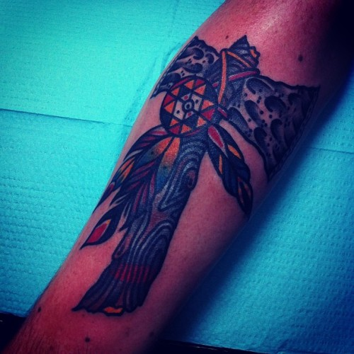 joshstephenstattoos:  Tomahawk (at Cathedral Tattoo)  Hold It Down Tattoo 302 N. Goshen St. Ste. #100 Richmond,VA 23220 (804) 643-3696 Questions or concerns? Need to make an appointment? Give us a call or send an email.