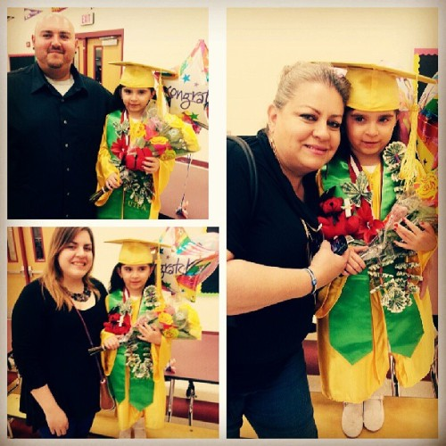 Bianca's graduation #shedidit #graduation2013 #yellow #family