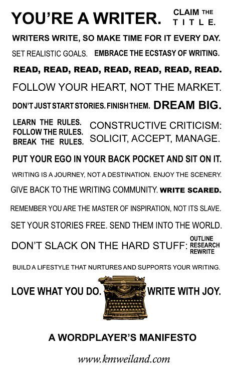 You are a writer…