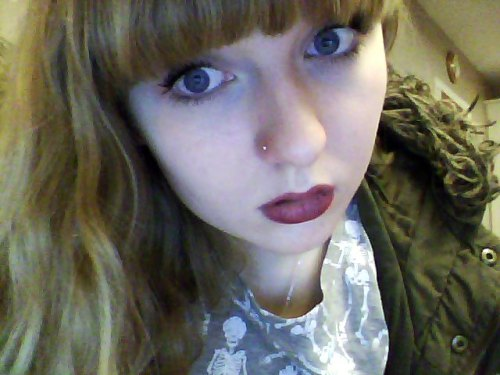 nose piercing again, too low?  :(