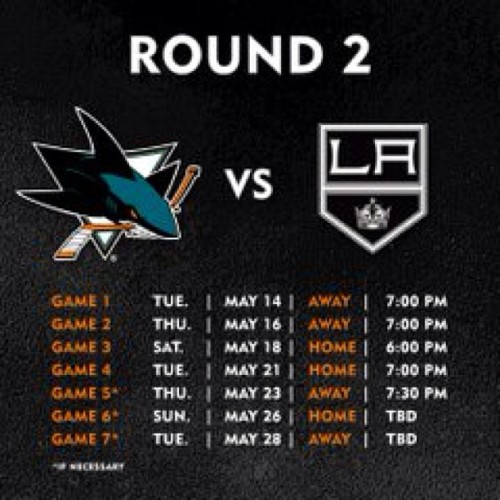 Let's do this San Jose #SHARKS…. #BeatLA.. @joshuapetker