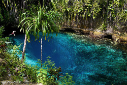 "twentiii7:  Enchanted River - hinatuan, Surigao del sur, PHILIPPINESWhy Enchanted? ""Cause no one ever reach its bottom.""Enchanted River is found in Barangay Talisay, Hinatuan, Surigao del Sur. It is called ""enchanted"" because no one has ever reached its bottom. Many people, including scuba divers, have tried reaching for the bottom but have failed, hence the legend of its bottomless pit. Moreover, locals share that NOBODY has been successful in catching the fish in this river, whether by hand or by spear.They say its bluish color is a result of its depth and the water clarity changes throughout the day. At around 12:00 nn, the water becomes clearer and even more majestic. Once the bell is rung at noon, the people swimming get out of the water and the fish start appearing to enjoy a feast. Fish feeding is done daily and serves as entertainment most especially for the locals during weekends."