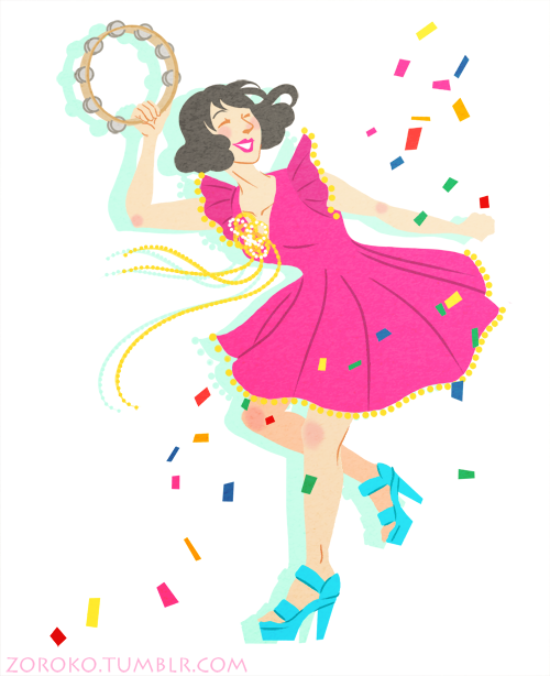 "I love Kimbra's dress in ""Cameo Lover"", I just had to draw it! But then I drew Kimbra as well oops.  ~Zoroko"