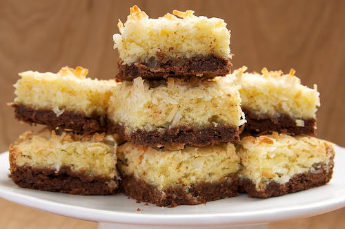 in-my-mouth:  Coconut Bars with Chocolate Shortbread Crust