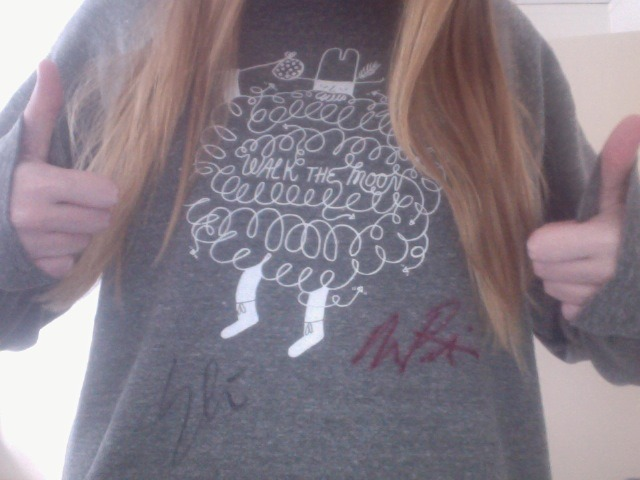 Eli and Nick both signed my comfy sweater that I bought when I saw them in Milwaukee! I'm so glad I got to see them during my time studying abroad in Sweden. We totally bonded over the Midwest being awesome. I mean, midwest coast equals the best coast!