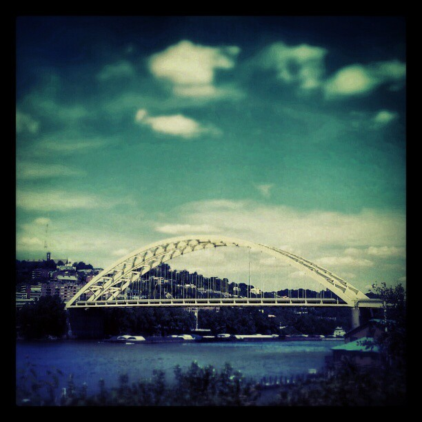 no9images:  Big Mac Bridge Cincinnati. #clouds #Cincinnati #513 #859 #cincy #bridge #architecture #ohio #river #travel  The Big Mac bridge, I-471 into downtown Cincy.