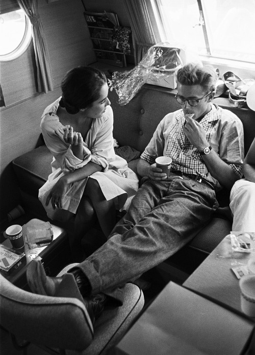 au-rev0ir:  elizabeth taylor and james dean, 1955