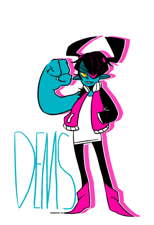 robopolis:  Here's a Mini-Dems I drew before my tablet decided to stop working  And a thing I made after