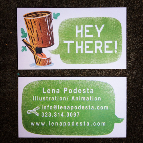 So professional. I just redesigned my business cards. I got fancy and printed on both sides this time. This is how they turned out: