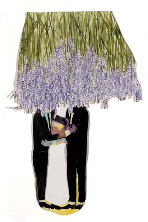 Michael Young Lavender Kissing, 2008