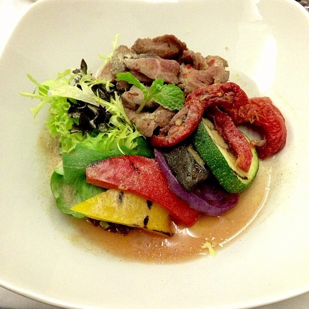 #Lamb #Salad - #businessclass #singaporeairlines #flight #food