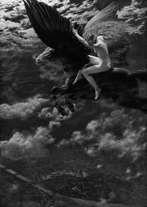midwinter-tears:  Dream Idyll (A Valkyrie) by Edward Robert Hughes, 1902