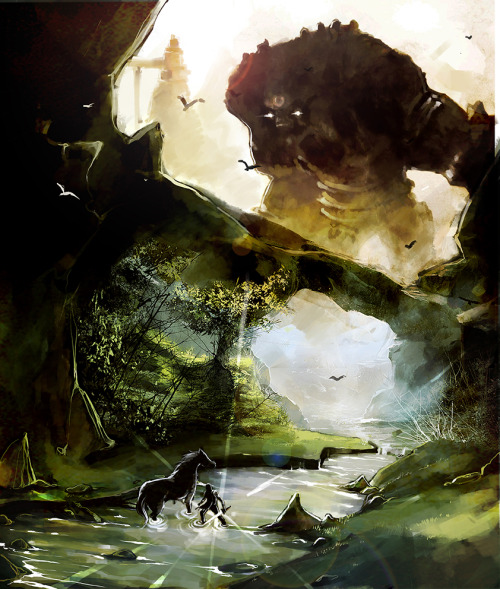 xombiedirge:  Shadow of the Colossus  by Frank William / Facebook