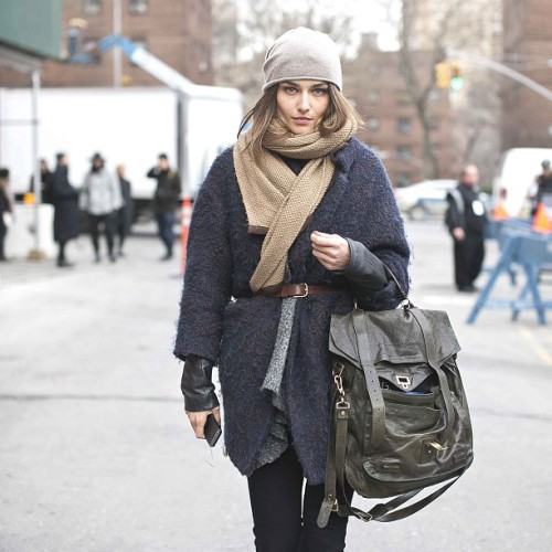 #modeloffduty #AndreeaDiaconu aka @andreeadiddy exits today's @bcbgmaxazria show.  #swag #nofilter (at MBFW @ Lincoln Center)