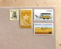"packandpost:  Time for some color-coordinated correspondence! ""Yellow Midwest"" - postage for 5 first class letters. Available in the Pack & Post shop here."
