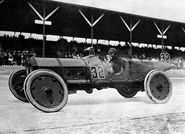 "In the very first Indianapolis 500, Ray Harroun gave the automotive industry one of its greatest safety innovations when he rigged a mirror above the dashboard of his race car so he could see oncoming traffic. By doing so, he did not have to use a ""riding mechanic,"" which gave him an advantage in the race. Though he still needed a relief driver, Harroun was in the cockpit for the last part of the race and drove to a 1:43.00 margin of victory over Ralph Mulford. (IMS Photo) GALLERY: Classic Photos of the Indianapolis 500"
