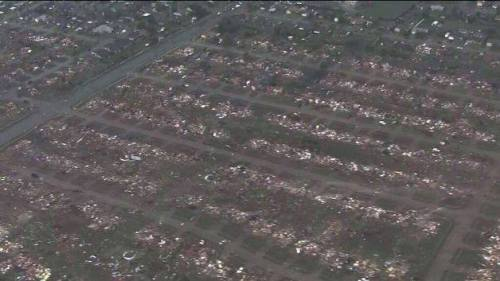 timesunion:  The devastation in Oklahoma is almost hard to comprehend. The picture below isn't one street but rather an entire neighborhood flattened by the tornado. The death toll could be staggering. — Mike G.http://www.timesunion.com/news/us/article/Massive-tornado-roars-through-Oklahoma-City-suburb-4530194.php http://www.facebook.com/photo.php?fbid=10151585830324146&set=a.291392419145.144630.288240529145&type=1  This isn't my part of the state, but the damage these past couple of days has been unreal. If you're the praying type, they sure could use them. Or just some good thoughts if you're not.