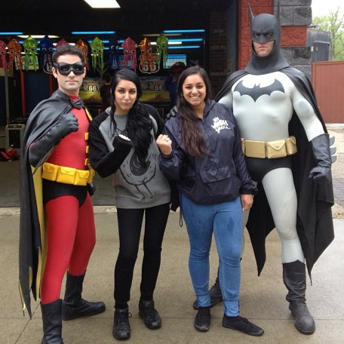 @kamnakr33p3r and I just met Batman and Robin. Win. #skateandsurf
