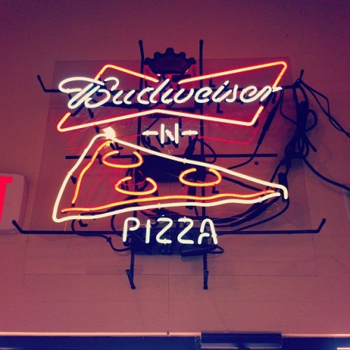 marksblog1:  My two favorite things <3 #beer #pizza