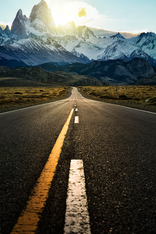 free-wilderness:  plasmatics-life:The road to fitzroy by Jimmy McIntyre