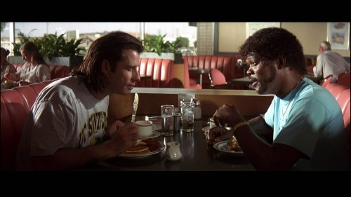 "PULP FICTION Jules: I'll just walk the earth.  Vincent: What'cha mean walk the earth?  Jules: You know, walk the earth, meet people… get into adventures. Like Caine from ""Kung Fu."""