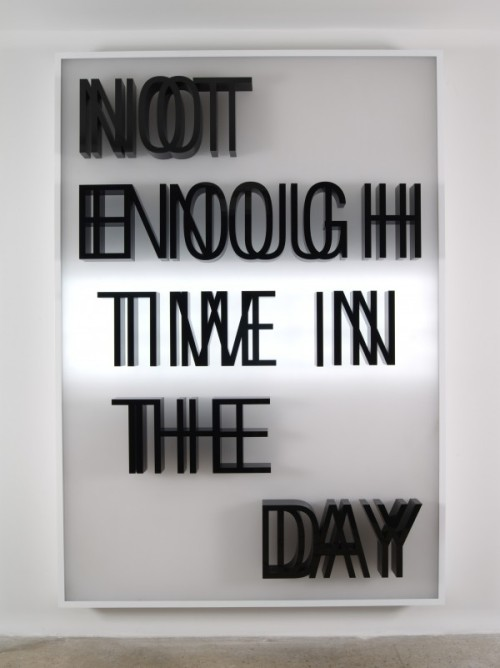 destructs:  Doug AitkenNot Enough Time In the Day, 2013