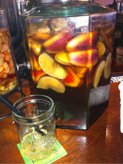 Apple cinnamon infused vodka, yum!