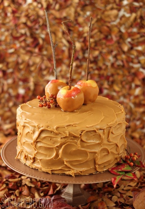 cakesonholiday:  Caramel Apple Cake with Salted Caramel Buttercream