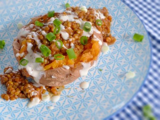 iherzfood foodblog sweet potato lentils