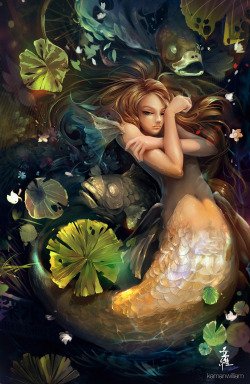 Shallow water by ~kamanwilliam —-x—- More: | Creature Week #1 | Mermaids | Random |