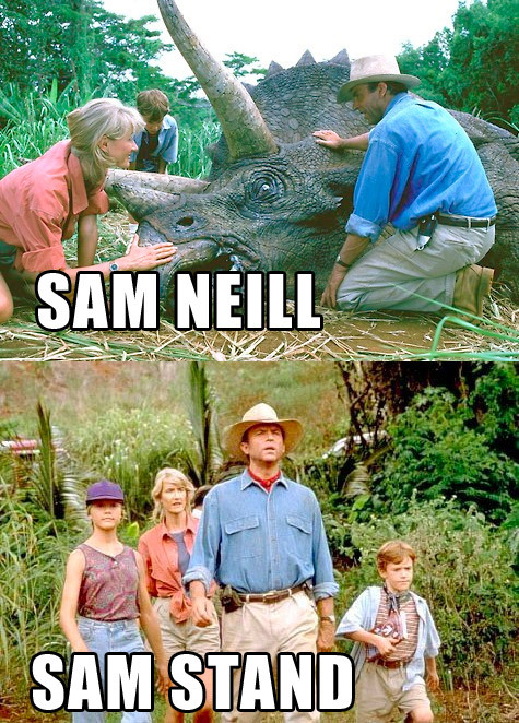 georgetakei:  He's Jurassic Park-ing it.