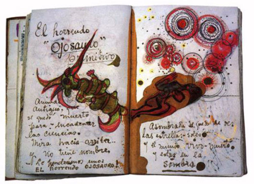 workman:  dddmagazine: A page from Frida Kahlo's diary.