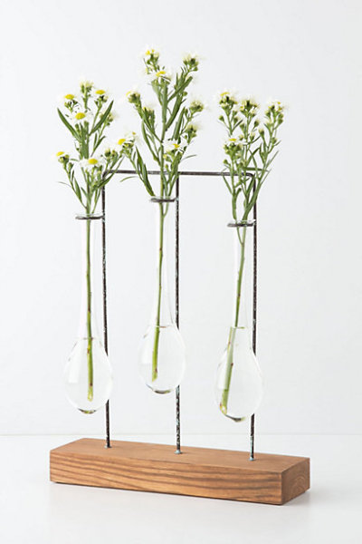 I kiiiiinda like this. (via Horizontal Chemist Vase - Anthropologie.com)
