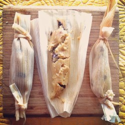 Chocolate chip tamales for dessert at tomorrow's #vegan tamale class #veganfoodshare