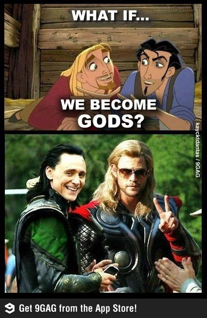 jadity:  (via 9GAG - Just Tulio and Miguel….Wait… What?!) It's good to be a god~ :D