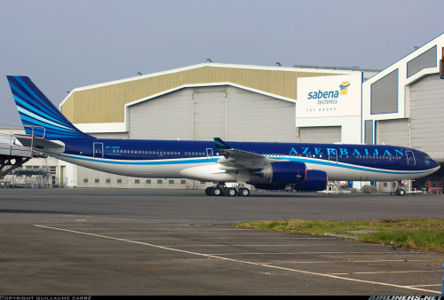 4K-AZ85 (cn 886) First A340-500 for Azerbaijan Airlines and a new colour scheme.