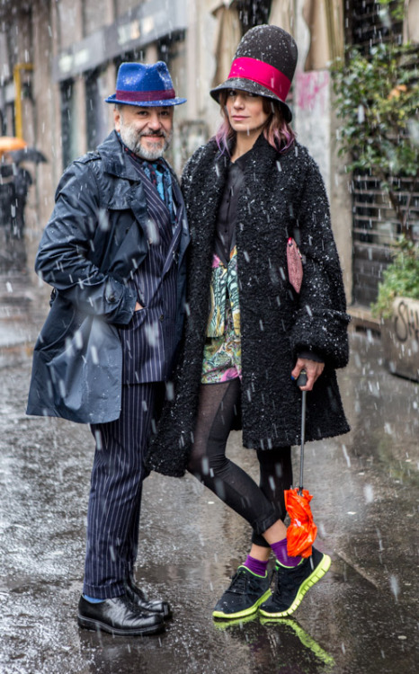 Gianni Fontana and Elisa Bersani, Borsalino, at Milan Fashion Week (Ph. Claudio Sforza)