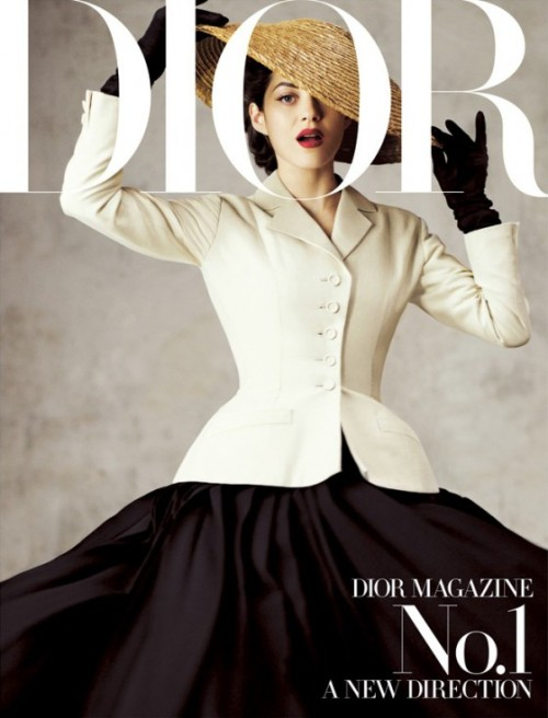 Fashion Muse: Marion Cotillard graces the cover of Dior Magazine's first issue.