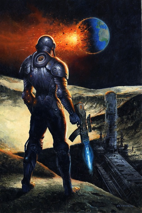 alien-vibe:  Cyborg Moon - Les Edwards