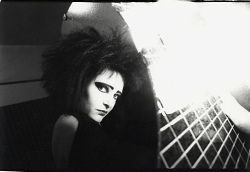 "kvetchlandia:  Pierre Terrason     Siouxsie Sioux, Paris     1986 ""People forget the punk thing was really good for women. It motivated them to pick up a guitar rather than be a chanteuse. It allowed us to be aggressive."" Siouxsie Sioux"