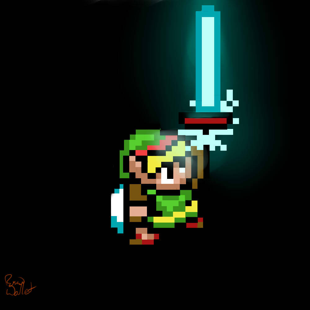 triforceof-power:  (via 8 Bit Link by *RussianWallet on deviantART)