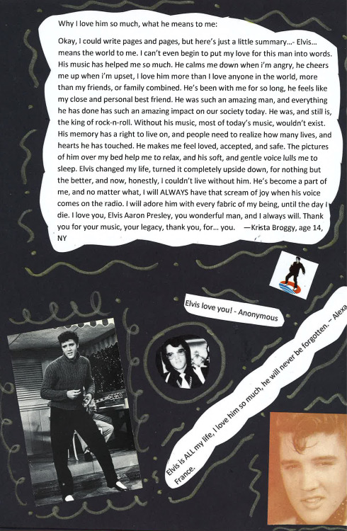 Another cool page from our Elvis Fan scrapbook!