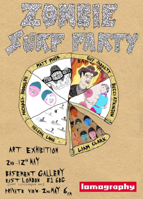 TONIGHT!!!! The Zombie Surf Party Exhibition Opening Party from 6:30 - 9pm Free Booze from Jameson Whiskey! Click here for a Facebook event with more details