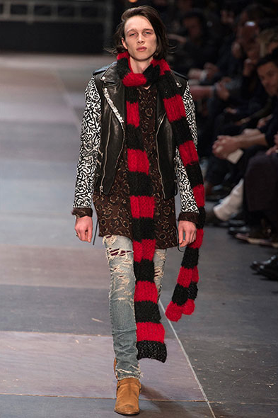 cesarfranco:  Saint Laurent F/W '13  Get those knitting needles out folks - simple bold stripes at Saint Laurent AW13 at Paris Fashion Week ;)