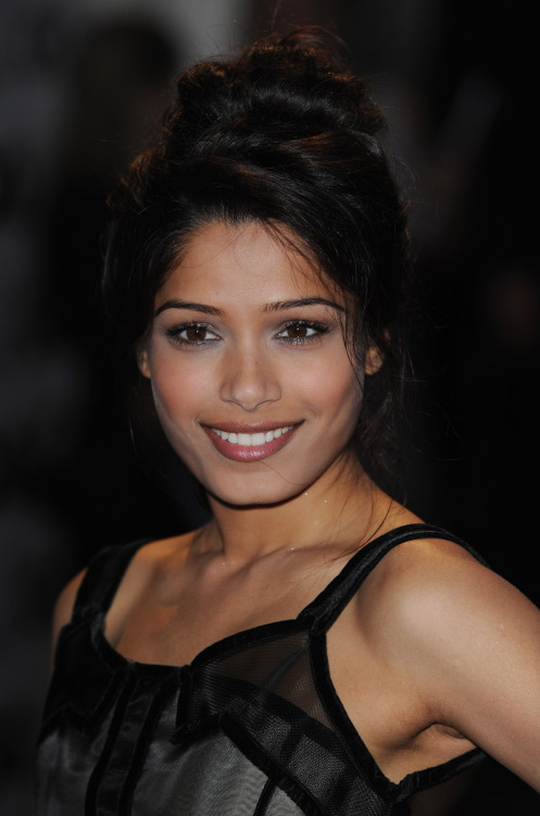 Programming note:  This has become a Freida Pinto appreciation blog.