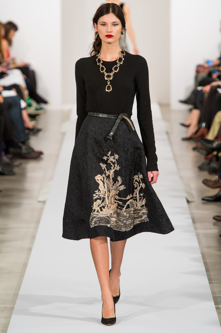 journaldelamode:  Oscar de la Renta Fall 2013 NYFW, Ava Smith  Love