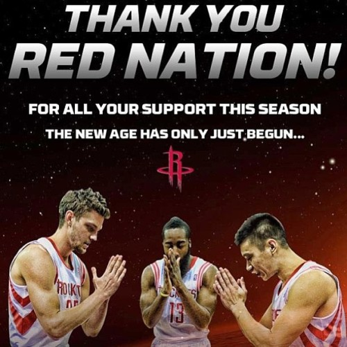🚀🚀🚀🚀🚀🚀 #RedNation #Rockets #FearTheBeard #JLin #Assassin #ThankYou #NewAge #BigThree