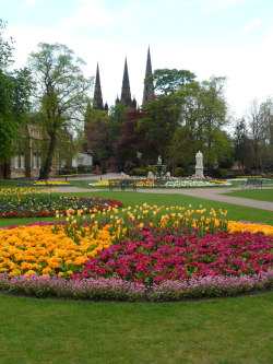 Britannia Park with the three spires of Lichfield Cathedral, Lichfield, Staffordshire, England. All Original Photography by http://vwcampervan-aldridge.tumblr.com