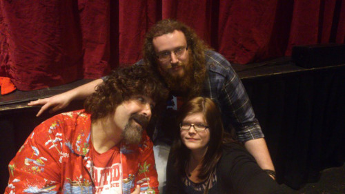 Meeting Mick Foley after going to see his stand up comedy show